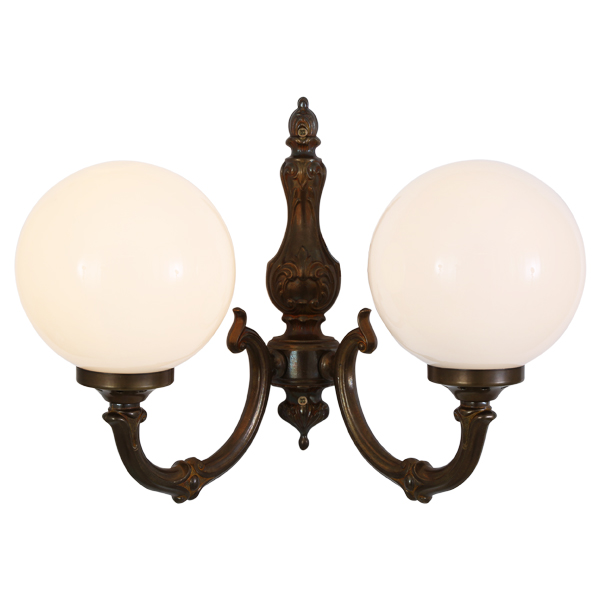 Ben 2 arm traditional wall light globe wall light by irish pub ben 2 arm traditional wall light aloadofball Image collections