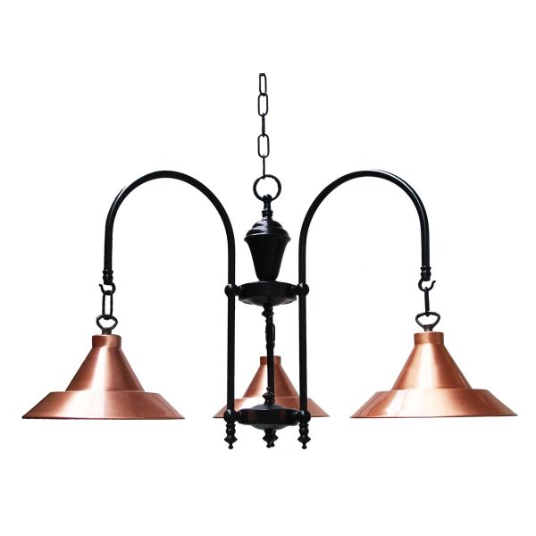 Barea A Copper 3 Arm Light Fitting Image
