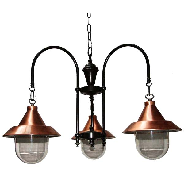Barea B Copper 3 Arm Light Fitting Image
