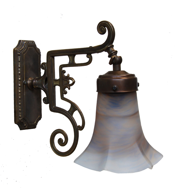 Crew 1 Arm Traditional Brass Wall Light Image