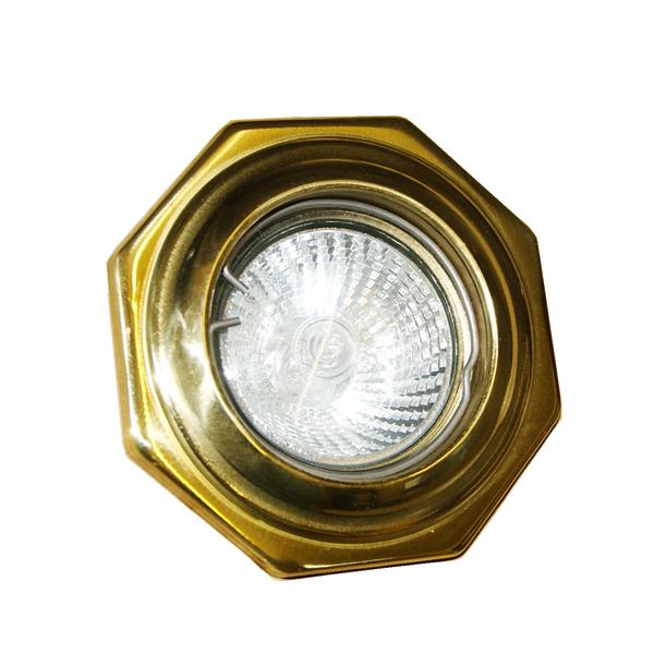 Hexagon Brass Recessed Spot Light Image