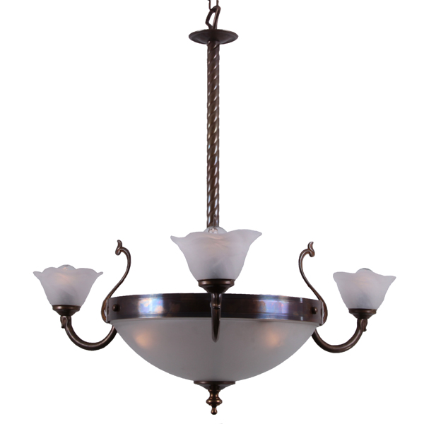 Killora 3 Arm Brass Dining Room Light Image