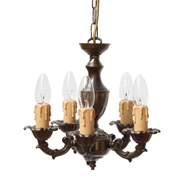 Marino 5 Arm Brass Light Fixture Image