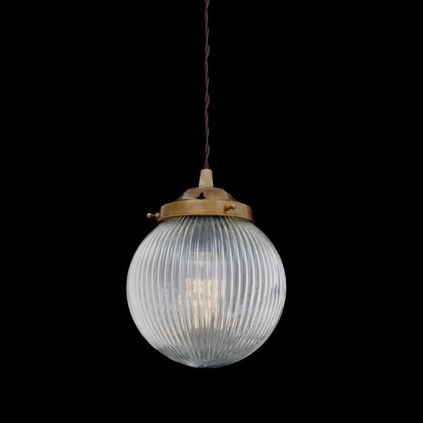 Stanley Holophane Globe Pendant Image
