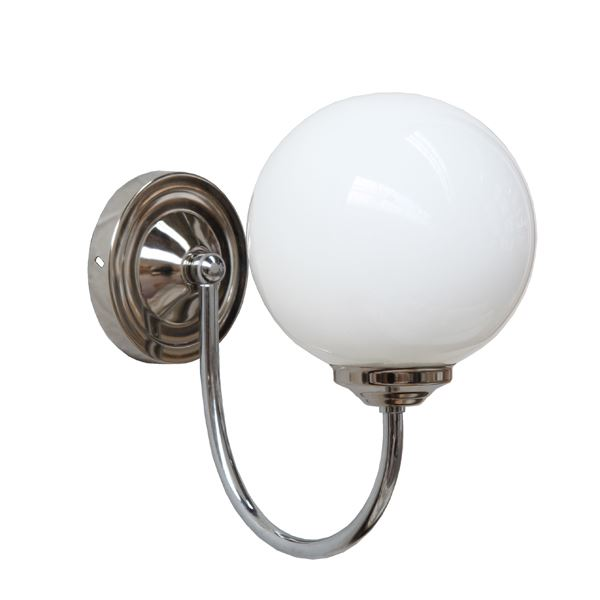 """With a versatile design, the Bragan Chrome Globe Wall Light will adapt to any kind of interiors."""