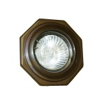 """The Hexagon Brass Recessed Spot Light will be an ideal way to revamp a room or a commercial setting."""