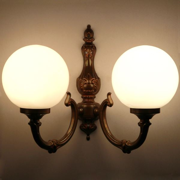 Ben 2 arm traditional wall light globe wall light by irish pub ben 2 arm traditional wall light aloadofball Images