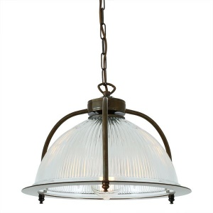 """The Bousta Holophane Pendant offers plenty of task lighting for detailed work and ambiance."""