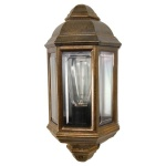 """With traditional details, the Brent Traditional Exterior Wall Light has a distinct design to an outdoor entrance."""
