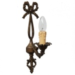 """Manufactured in Ireland, this brass wall light is perfect for any traditional style setting."""
