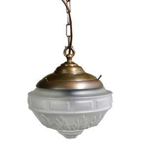 Manufactured in Ireland, this traditional style brass pendant is reminiscent of a Victorian pendant light.