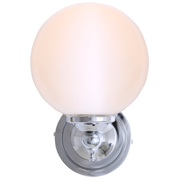 """Add a modern look to your home decor with the Cloghan Modern Globe Wall Light."""
