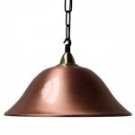 """Manufactured in Ireland, this traditional brass and copper pendant is reminiscent of a traditional nautical light."""