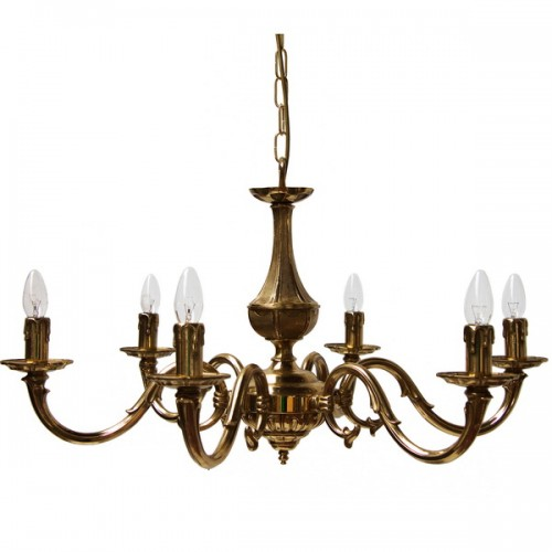 """Manufactured in Ireland, this quality solid brass candle drip candelabra chandelier light fitting is perfect for any traditional style setting."""