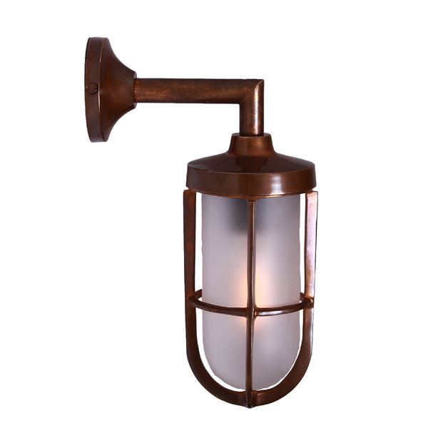 """The Cladach Brass Well Glass Wall Light is suitable for any minimalist or industrial style setting both indoor and outdoor."""