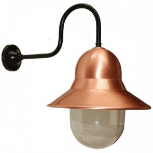 """""""Manufactured in Ireland, this quality copper and black wall light is suitable for any minimalist or industrial style setting both indoor and outdoor."""""""