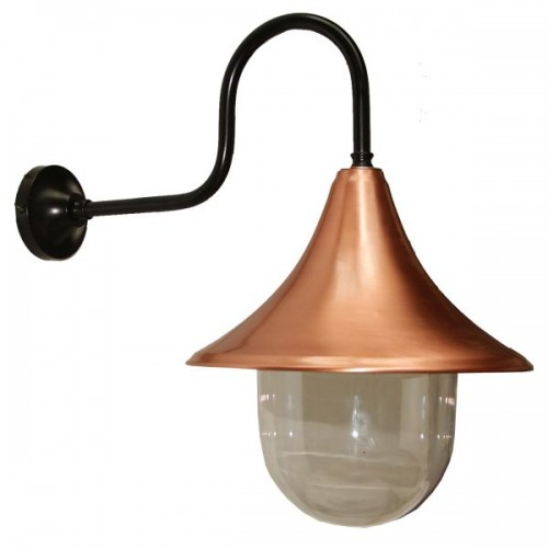 """Manufactured in Ireland, this quality copper and black wall light is suitable for any minimalist or industrial style setting both indoor and outdoor."""