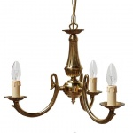 """Manufactured in Ireland, this quality brass Candelabra chandelier would look great in any traditional style setting."""