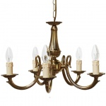 """""""Manufactured in Ireland, this quality brass Candelabra Chandelier would look great in any traditional style setting."""""""