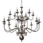 """""""Manufactured in Ireland, this quality brass large flemish chandelier would look great in any traditional style setting."""""""