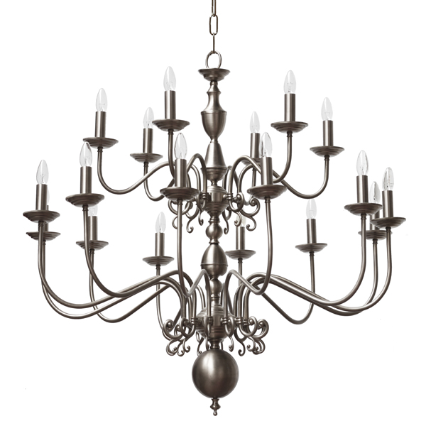 """Manufactured in Ireland, this quality brass large flemish chandelier would look great in any traditional style setting."""