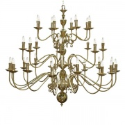 """""""Introduce a welcoming light to your home with Flemish Chandelier 16+8+8 arm."""""""