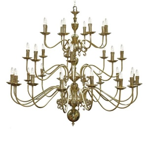 """Introduce a welcoming light to your home with Flemish Chandelier 16+8+8 arm."""