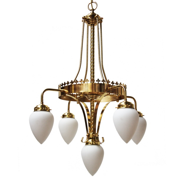 Killarney 5 arm large ornate chandelier