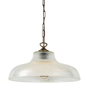 """""""An eye-catching piece for any décor, the London 38cm Prismatic Railway Pendant illuminates any space with contemporary chic style."""""""