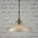"""An eye-catching piece for any décor, the London 38cm Prismatic Railway Pendant illuminates any space with contemporary chic style."""